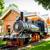 lima reducto park with train stock photo © pxhidalgo