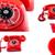 piros · telefonkagyló · kéz · izolált · fehér · üzlet - stock fotó © pxhidalgo