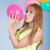 jong · meisje · bos · Rood · ballonnen · leuk - stockfoto © pxhidalgo