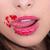 portret · vrouw · Rood · kaviaar · jonge · eten - stockfoto © pxhidalgo