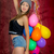 genç · güzel · kafkas · kadın · balonlar · gülümseme - stok fotoğraf © pxhidalgo