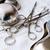 tálca · sebészi · olló · tiszta · ezüst · műtét - stock fotó © pxhidalgo