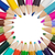 Set of colored pencils arranged in circle stock photo © pzaxe