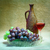 still life from grapes bottle and glass of wine stock photo © pzaxe