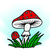 ilustração · cor · cogumelos · branco · floresta · natureza - foto stock © pzaxe