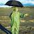 człowiek · maska · parasol · czeka · kwas · deszcz - zdjęcia stock © pzaxe