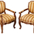 vintage wooden baroque armchairs isolated on white stock photo © pzaxe