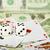 twee · witte · leuk · Rood · gezichten · casino - stockfoto © pzaxe