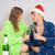 fiatal · extravagáns · férfi · nő · pezsgő · karácsony - stock fotó © pzaxe