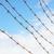 roestige · prikkeldraad · oude · Blauw · veiligheid · teken - stockfoto © pzaxe