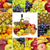 wine and tropical fruits   square collage stock photo © pzaxe