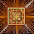 beautiful symetrical hand carved wooden ceiling tile with live stock photo © pzaxe