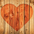 silhouette of heart on wooden wall stock photo © pzaxe