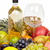 Still life - bottle of wine, glass and tropical fruit stock photo © pzaxe