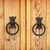 handles on the old fashioned wooden door stock photo © pzaxe