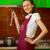 genç · kadın · modern · mutfak · gülen · gıda - stok fotoğraf © pzaxe