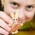 Girl with a plasticine rabbit stock photo © pzaxe