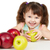 happy child with apples   sources of vitamins stock photo © pzaxe