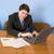 młody · człowiek · tabeli · biuro · pióro · strony · komputera - zdjęcia stock © pzaxe