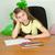 crayons · papier · rustique · table · en · bois · école - photo stock © pzaxe