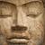 face of stone buddha statue stock photo © pzaxe
