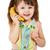 banane · téléphone · belle · femme · manger - photo stock © pzaxe