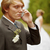 Groom speaks by phone , forgotten about bride stock photo © pzaxe