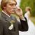 bruidegom · telefoon · vergeten · bruid · bloemen · bruiloft - stockfoto © pzaxe