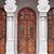 kahverengi · ön · kapı · giriş · Bina · duvar · dizayn - stok fotoğraf © pzaxe