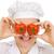 szakács · piros · paradicsom · szemek · fehér · jókedv - stock fotó © pzaxe