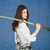 Young woman with the Japanese sword in a hand stock photo © pzaxe