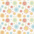 abstract vintage vector seamless pattern   color curves circles stock photo © pzaxe