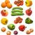 tomato orange apple onion cucumber plum and paprika stock photo © pzaxe