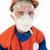 шлема · сигарету · белый · человека · синий · весело - Сток-фото © pzaxe