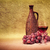 artistic arrangement of bottles of wine and grapes stock photo © pzaxe