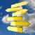 vários · sinais · de · trânsito · amarelo · blue · sky · nuvens · assinar - foto stock © Quka