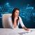 女實業家 · 文書 · 未來派 · 年輕 · 辦公室 · 紙 - 商業照片 © ra2studio