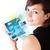 若い女性 · 写真 · 現代 · タブレット · 小さな · ビジネス女性 - ストックフォト © ra2studio