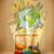 旅行 · 周りに · 世界 · 道路 · 紙飛行機 - ストックフォト © ra2studio