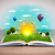 open book with green nature world coming out of its pages stock photo © ra2studio