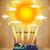 fényes · nap · kitörés · illusztráció · fraktál · kék - stock fotó © ra2studio