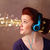 Young woman with headphones listening to music stock photo © ra2studio