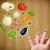 feliz · rosto · sorridente · dedos · olhando · ilustração · colorido - foto stock © ra2studio