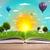 открытой · книгой · Blue · Sky · белый · поверхность · облака · школы - Сток-фото © ra2studio