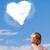 amor · coração · verde · blue · sky · árvore - foto stock © ra2studio