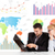 business man and woman with colorful charts stock photo © ra2studio