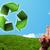 recycler · étiquette · isolé · blanche · papier · nature - photo stock © ra2studio