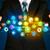 empresário · aplicativo · ícone · nuvem · brilhante - foto stock © ra2studio