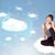 fille · heureuse · regarder · modernes · réseau · cloud · heureux · jeune · fille - photo stock © ra2studio
