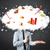 modern business man with a graph cloud head stock photo © ra2studio